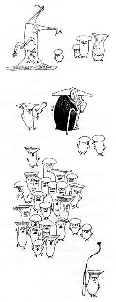 "Tove Jansson - Illustrations for ""Alice in Wonderland"" 19 Tove Jansson, Alice In Wonderland Book, Line Illustration, Art Illustrations, Sketchbook Inspiration, Childrens Books, Comic Art, Book Art, Character Design"
