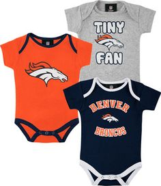 Football-nfl Professional Sale Outerstuff Nfl Infant Girls Denver Broncos Assorted 3 Pack Creeper Set Discounts Price