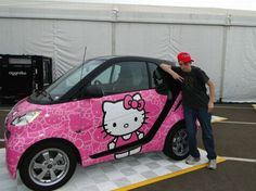 Lookin fly with my Hello Kitty Smart Car