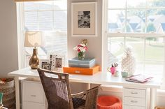 Adrienne Gilliam's Indianapolis Home Tour #theeverygirl - Like the desk.