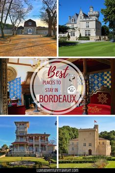 From Bordeaux city center boutique hotels to châteaux stays right the heart of Bordeaux's vineyards, we've taken the guess work out of where to stay in Bordeaux.   Jennifer and Tim, Bordeaux locals, round up the best places to stay in Bordeaux, France including unique hotels like a historic windmill and a medieval castle complete with a moat and drawbridge!