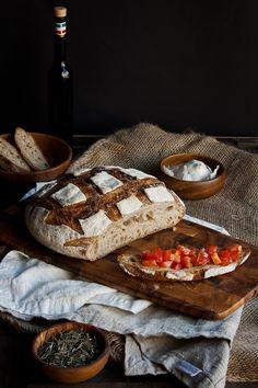 pan de campo con romero y ajos