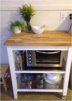ikea kitchen cart stenstorp (microwave on lower level)