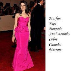 Make com vestido rosa