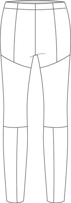 Flat Fashion Sketch Pant