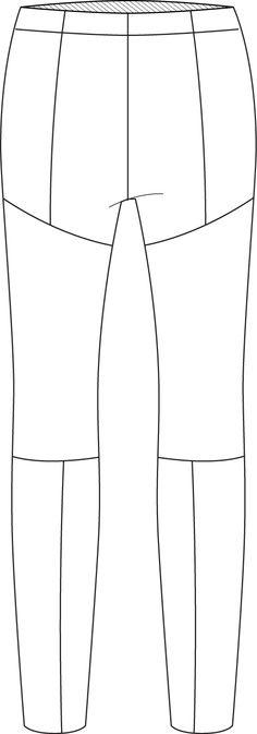 Flat Fashion Sketch Pant