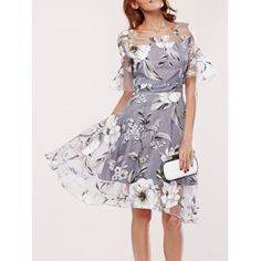 SHARE & Get it FREE | Spliced Flare Sleeve Floral Print DressFor Fashion Lovers only:80,000+ Items·FREE SHIPPING Join Dresslily: Get YOUR $50 NOW!