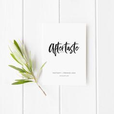 $39   Aftertaste Premade Logo Design   MintSwift