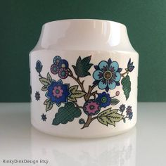 Midwinter 'Alpine Blue' Container pot designed by Royal College Of Art, Spring Has Sprung, Jar Storage, Shape Design, Brighten Your Day, Vintage Ceramic, Pink Flowers, Container, Ceramics