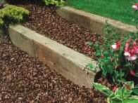 Explore ideas for landscaping with railroad ties. Learn about projects that use landscaping with railroad ties from the experts at HGTV Gardens. Railroad Ties Landscaping, Landscaping Retaining Walls, Residential Landscaping, Home Landscaping, Gardening For Beginners, Gardening Tips, Patio Garden Ideas On A Budget, Backyard Ideas, Landscape Design