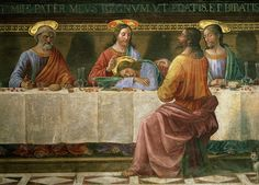 Detail from the Last Supper Canvas Print / Canvas Art by Domenico Ghirlandaio Italian Renaissance, Renaissance Art, The Last Supper Painting, Jesus Last Supper, Life Of Christ, Renaissance Paintings, Wine Art, Dark Ages, Michelangelo