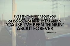 Thinking About You - Frank Ocean