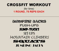 Crossfit Workout for time