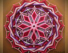 """Tejido mandala """"Wheel of Fortune"""" hilado mandala arte ojo de dios hecha a mano de la pared decoración colgante colorido ojo de Dios indio"""