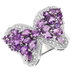 Butterfly Rings in Sterling Silver and (Semi)Precious Stones #butterflyringssilver #silveramethystbutterflyrings #christmas2020 #christmasgifts2020 #21stbirthdaygifts Ring Bracelet, Bracelets, Titanic Jewelry, 21st Birthday Gifts, Butterfly Ring, Purple Love, Amethyst, Sterling Silver, Bling Bling