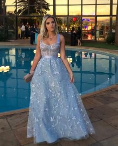 Chic Lace Prom Dress Cheap A Line Straps Prom DressFormal Evening Dresses with Straps Prom Dresses, Cheap Prom Dresses, Homecoming Dresses, Formal Dresses, Wedding Dresses, Dress Prom, Vestidos Azul Serenity, Fairy Dress, Custom Dresses