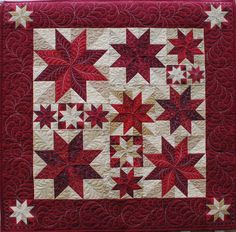 Constellation, a customer quilt.  Custom quilting by Cindy Carey on a Gammill.  North Star Long Arm Quilting (Pennsylvania)
