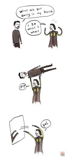 The Avengers || Tony Stark (Iron-Man) vs Loki Odinson