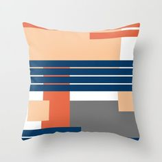 Abstract geometric print Throw Pillow by chaploart | Society6