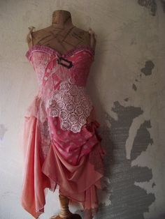 Pink dotty dress