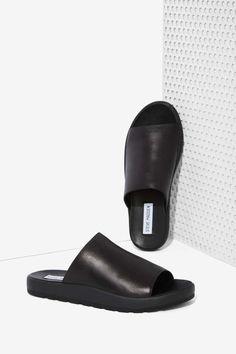 Steve Madden Flavor Leather Slide Sandals - Shoes