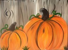 Acrylic painting tutorial step by step how to paint pumpkins on canvas for beginners. Pumpkin Canvas Painting, Autumn Painting, Painting On Wood, Painting Flowers, Pumkin Decoration, Fall Decorations, Happy Paintings, Canvas Paintings, Fall Paintings