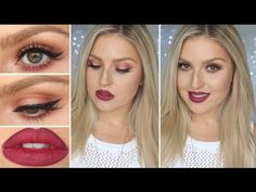 Autumn Winter Glam Eyes & Lips ♡ Warm Toned Tutorial