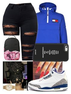 Poppin sus by istanfinn on Polyvore featuring polyvore fashion style Tommy Hilfiger Sprayground Michael Kors Retrò clothing