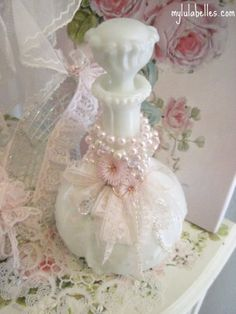Ribbons and Pearl bottle