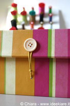 Ideekiare: Ricoprire una scatola da scarpe (con coperchio incorporato) con la carta + Guest Post!