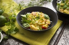 Here is a quick, zesty summer meal, easy to throw together after a day at the beach You can use the recipe as a template, substituting chicken, tofu or vegetables for shrimp, if desired.