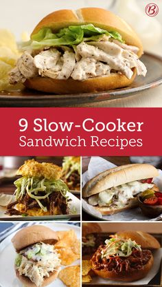 Every potluck needs a simmering slow cooker filled with the best party-ready sandwich meat. Here are the slow-cooker sandwiches we can't live without this summer!