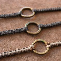 adjustable woven leather brass bracelet - Google Search