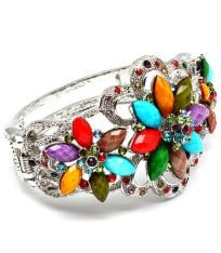 "Glamorous Flower Hinge Bracelet""Free Shipping"""