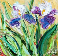 Original Textured Palette Knife painting by Karensfineart