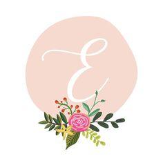 Monogram Letters for Nursery Floral Letters, Monogram Letters, Nursery Letters, Nursery Art, E Letter Design, Tattoo Studio, Monogram Wallpaper, Letter Wall Art, Alphabet