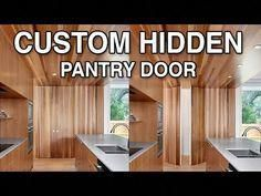 There are basically two types of barn door hardware. The first is a rustic, flat track sliding door system The second is a more modern roller and track style Cavity Sliding Doors, Diy Sliding Door, Interior Sliding Barn Doors, Sliding Barn Door Hardware, Exterior Door Colors, Hidden Pantry, Wooden Garage Doors, Indoor Barn Doors, Custom Pantry