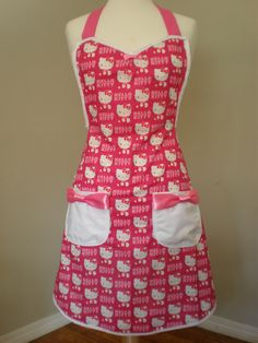 Hello Kitty apron by HauteMessThreads on Etsy
