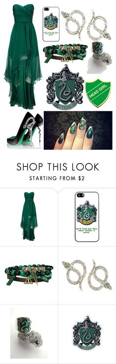 """""""Yule Ball!! My name is Sphynx Malfoy. Long lost twin of Draco Malfoy."""" by abandoned-leftpolyvore ❤ liked on Polyvore featuring GALA, Ariella, Hot Topic and Ileana Makri"""