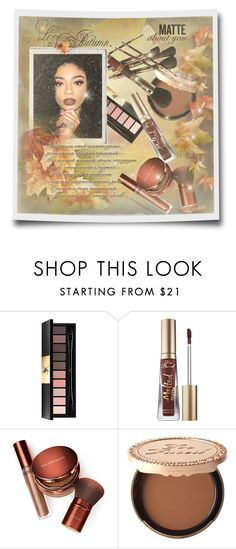 """Fall Beauty: dark, bronze, matte...."" by fashionlibra84 ❤ liked on Polyvore featuring beauty, Yves Saint Laurent, Too Faced Cosmetics, Bare Escentuals and Kylie Cosmetics"