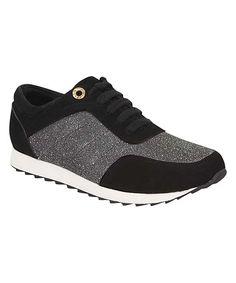 Black Glitter Jump Sneaker
