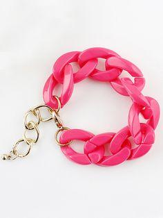 Fashion Red Chain Link Bracelet