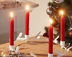 Stabkerzen (rot) - Kerzen & Kerzenhalter - Für alle Räume - Dänisches Bettenlager