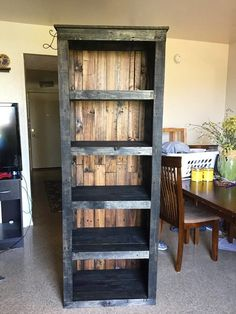 Pallet Shelving Tower / Bookcase - 30 Easy DIY Pallet Ideas for Your Next Projects   101 Pallets