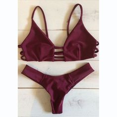 Ruby Strappy Cross Bikini Top And Hipster Bottom #216128
