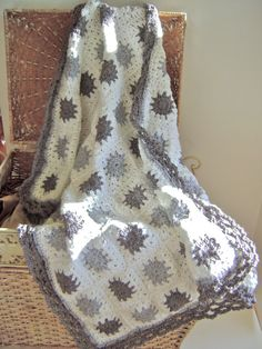 Grey Granny Baby Blanket!