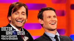 MATT SMITH & DAVID TENNANT Answer Whovian Fans' Questions - THE GRAHAM NORTON SHOW.  Forget everything else, look at David Tennant's HAIR!!!!