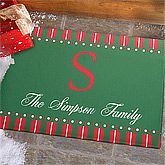 Large Personalized Holiday Doormats - Christmas Spirit. Extend a welcome to guests this Christmas season with our exclusive Christmas Spirit Personalized Doormat. We will creatively personalize any single initial and family name or first names within our unique artwork for an impressive, personal touch! Great for indoor or outdoor use.. Price: $59.95