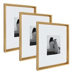 Transform a wall in your home into an enviable art gallery with this beautiful photo frame set. This classic picture frame set includes three solidly built picture frames. Each wall frame includes an optional crisp white beveled mat, protective glass Rose Gold Picture Frame, Classic Picture Frames, Picture Frame Sets, Picture On Wood, Picture Wall, Wooden Picture Frames, Rose Gold Pictures, Frames On Wall, Wall Groupings