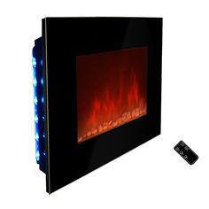 Dimplex Opti-Myst Electric Fireplace Cassette Insert w/ Curved ...